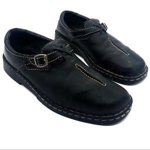 Clarks Slip-On Buckled Black Leather Shoes
